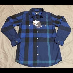 Burberry Children Designer Button Up size 12Y US
